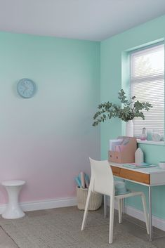 Bedroom Wall, Girls Bedroom, Bedroom Decor, Bedrooms, Ombre Painted Walls, Ombre Walls, Room Wall Painting, Home Room Design, My New Room