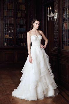 ef58fe2c2f2 Ruffled Organza Wedding Dress - Style  2014