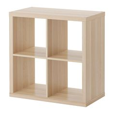 IKEA - KALLAX, Regał, ef dębu bejc bia, , Zdecyduj, czy wolisz powiesić ją na ścianie, czy postawić na podłodze.