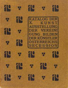 Cover. Vienna Secession exhibition catalog. X Exhibition, 1901. #viennasecession