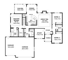 Floor plan 6157-24 | Floor Plans | Pinterest | Floor plans and Floors