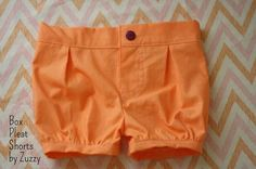 Free pattern: Box pleat bubble shorts for baby