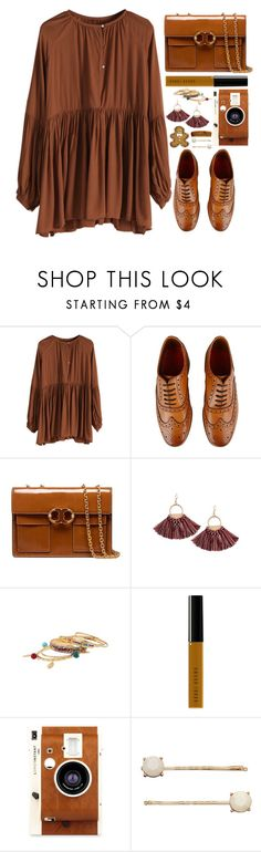 """Street Style"" by simona-altobelli ❤ liked on Polyvore featuring Grenson, Tory Burch, Bobbi Brown Cosmetics, LØMO and LC Lauren Conrad"