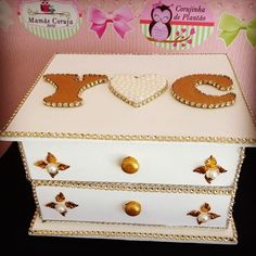 #gaveteiro #porta jóias #porta bijouterias #presentes #artesanato #anapolis #decoraçao