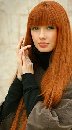 Amazing Long Copper Red Hairstyle - Homecoming Hairstyles 2014