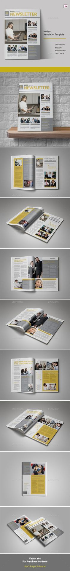 Modern Newsletter Template - Newsletters Print Templates Download here : https://graphicriver.net/item/modern-newsletter-template/19356792?s_rank=24&ref=Al-fatih