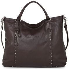 $463.5+New Lancaster Paris Mademoiselle Italy Leather Brown Satchel Bag-Last One