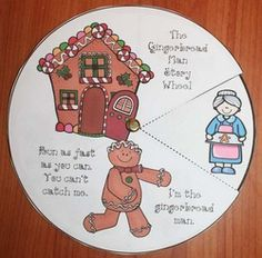 Gingerbread Activities: The Gingerbread Man story wheel. What a fresh, new way to practice sequencing & retelling a story, which are standards.