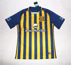 Club Atletico Rosario Central 17-18 Season Home Yellow-Blue Central Shirt Jersey [J695]