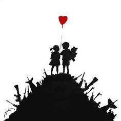 One of the symbols that Banksy uses is a heart, I think this symbolizes his love for art or someone he loves.