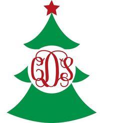 Christmas tree vinyl decal