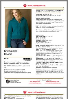 Hooded Cardigan, Knitting Patterns, Inspiration, Shopping, Tricot, Breien, Biblical Inspiration, Knit Patterns, Hooded Jacket
