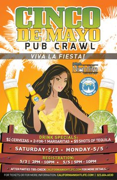 Cinco De Mayo Pub Crawl Downtown! Make sure you stop by the Palace Bar for a drink! Happy Cinco Everyone!