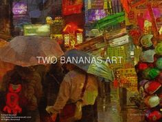 069 Rainy Asian Night Market by Richard Neuman Digital Media ~ 24 x 18