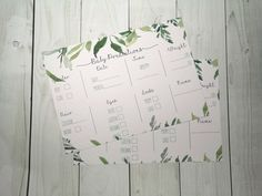 10 Botanical Greenery Baby Shower Prediction cards - guess cards - Baby Shower Game - A5