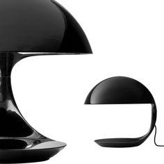 Tabletop lamp / original design / resin / by Elio Martinelli COBRA cod. 629 by Elio Martinelli 1968 Martinelli Luce Spa