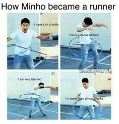 hahahaaha Minho TMR The Maze Runner