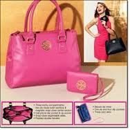 Sabrina Collection Bags ~ Comes in black or pink ~ This bag Is beautiful! Bag ~ $34.99, wristlet ~ $14.99 ... or both for $45.00!
