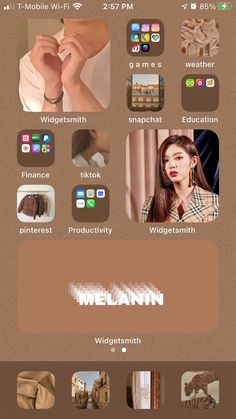Iphone Design, Design Ios, Iphone Home Screen Layout, Iphone App Layout, Organize Apps On Iphone, Tumblr Iphone, Iphone Wallpaper App, Phone Themes, Iphone Icon