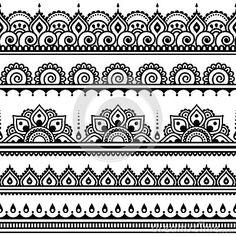 Mehndi, Indian Henna tattoo round pattern