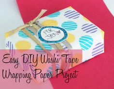 Easy DIY Washi Tape Wrapping Paper
