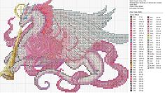 Cross-stitch Dragons by carand88...   Christmas Pink White Dragon by carand88 on deviantART