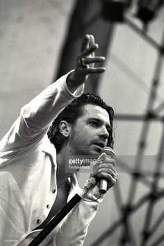 #MichealHutchence of #INXS at the Concert For Life at Centennial Park || March 28, 1992 || © Fairfax Media