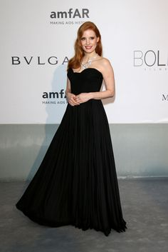 Jessica Chastain in Givenchy at the amfAR Gala, #Cannes #2014