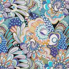 Italian Multicolor Floral Printed Polyester Jersey Fabric by the Yard | Mood Fabrics