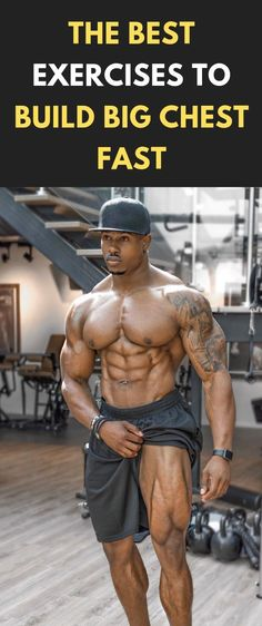 The Best Exercises To Build Big Chest Fast This article will give you all the information you need to achieve a chest that rivals the Hulk! Best Chest Workout Routine, Chest Workout For Men, Chest Workouts, Fun Workouts, At Home Workouts, Chest Exercises, Workout Men, Chest Muscles, Big Muscles