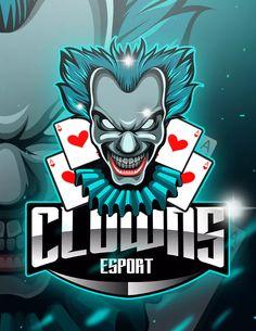 Clowns - Mascot & Esport Logo by aqrstudio on Envato Elements Team Logo Design, Logo Desing, Identity Design, Brand Identity, Joker Logo, Envato Elements, Esports Logo, E Sport, Send In The Clowns