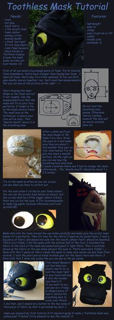 Toothless Mask Tutorial by *aThousandPaws on deviantART