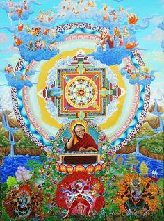 """""""DJ Dalai Lama"""" by Arotin Hartounian Yuumei Art, Spiritual Love, Hippy Chic, Funky Art, Art Thou, Visionary Art, Dalai Lama, Tag Art, Artsy Fartsy"""