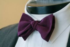 The Carlton- Our large cotton bowtie in purple. $28.00, via Etsy.