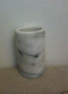 Marmor vase lysestake penneholder NOK 125