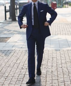 Blue Linen Suit by B&Tailor