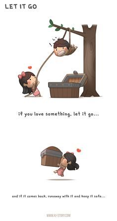 If you love something let it go. just catch it and run away with it! support HJ-Story on Patreon Let it go. Cute Couple Cartoon, Cute Love Cartoons, Cute Cartoon, Hj Story, Cute Love Stories, Love Story, Birthday Quotes Funny For Her, Humor Birthday, Couples Comics