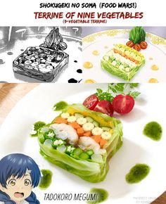 Shokugeki no Soma (Food Wars!) | Nine Vegetable Terrine | Manga/Anime/Real Life | (c) to their respective owners
