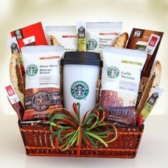 Starbucks On the Go Coffee Gift Basket Nikki's Gift Baskets Starbucks Gift Baskets, Coffee Gift Baskets, Holiday Gift Baskets, Diy Gift Baskets, Themed Gift Baskets, Raffle Baskets, Coffee Gifts, Holiday Gifts, Christmas Gifts