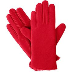 Womens isotoner Stretch Fleece Gloves with smarTouch Technology Red -- Please continue read.