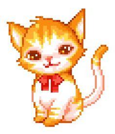kitty cat perler bead design