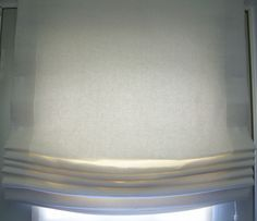 Custom Linen Roman Shade