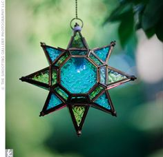 Stained Glass Star. I'm going to make these for my wedding!!