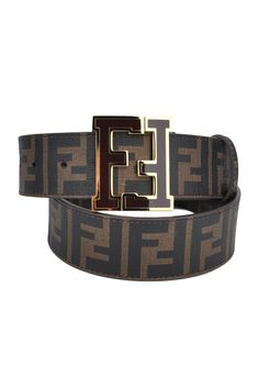Fendi Brown Zucca College Belt  Designer Clothing, Discount Designer Clothing, Fashion, Style,