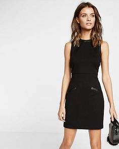 (minus the leather) accent sheath dress