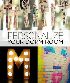 Add some personality to your dorm room with these simple ideas: http://bzfd.it/1nTby0C