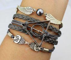 Silvery harry potter bracelet wings bracelet owl by handworld, $5.59