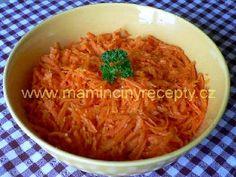 13 Korejský mrkvový salát Salads, Spaghetti, Ethnic Recipes, Food, Meals, Salad, Yemek, Noodle, Lettuce
