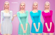 Simlife: Cotton Candy Dress • Sims 4 Downloads