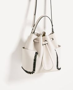 Image 3 of CONTRASTING DETAILS BUCKET BAG from Zara